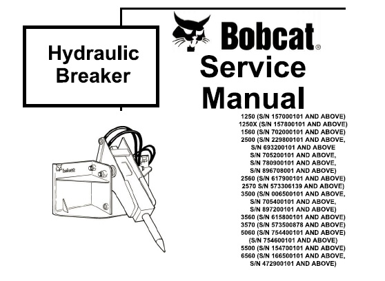 Bobcat Hydraulic Breaker Service Repair Manual