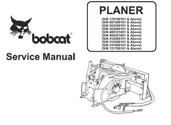 Bobcat Planer Service Repair Manual #1