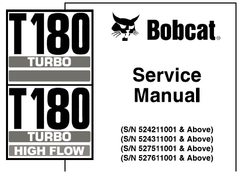 Bobcat T180 Turbo, T180 Turbo High Flow Compact Track