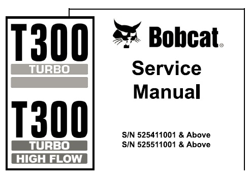 Bobcat T300 Turbo, T300 Turbo High Flow Compact Track