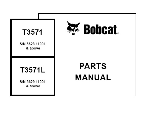 Bobcat T3571 , T3571L Telescopic Handler Parts Manual