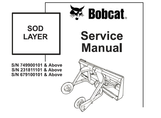 Bobcat Sod Layer Service Repair Manual