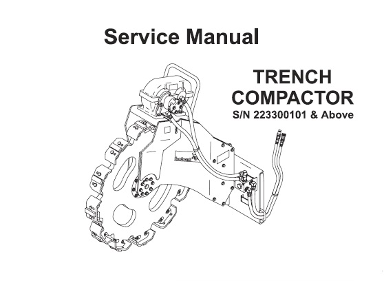 Bobcat Trench Compactor Service Repair Manual