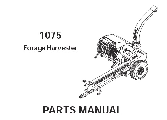 Gehl 1075 Forage Harvester Parts Manual