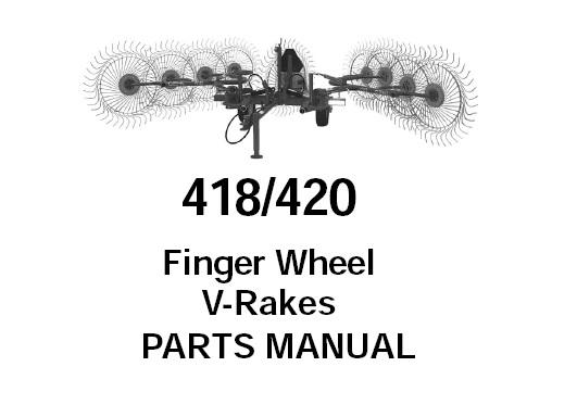 Gehl 418 / 420 Finger Wheel V-Rakes Parts Manual