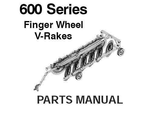 Gehl 600 Series Finger Wheel V-Rakes Parts Manual