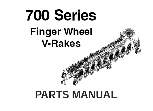 Gehl 700 Series Finger Wheel V-Rakes Parts Manual