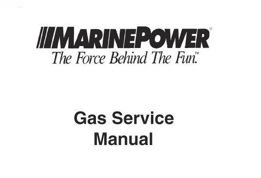 1986-1992 Marine Power Engine GM 181 / 250 CID (3.0L-4.1L