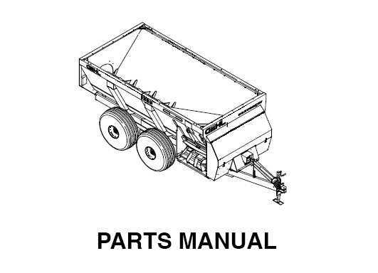 Gehl 1329 & 1330 Scavenger Spreaders Parts Manual