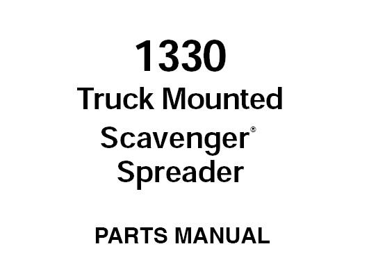 Gehl 1330 Truck Mounted Scavenger Spreader Parts Manual