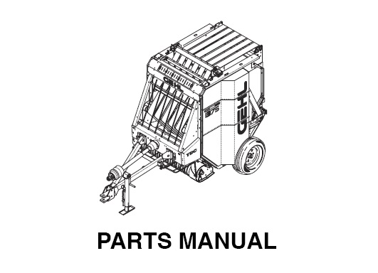Gehl 1375 Variable Chamber Round Baler Parts Manual