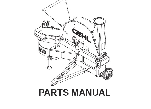 Gehl 1540 / 1580 Forage Blowers Parts Manual