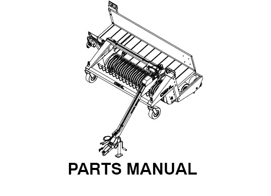 Gehl 2109 Windrow Merger Parts Manual