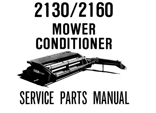 Gehl 2130 / 2160 Mower Conditioner Parts Manual