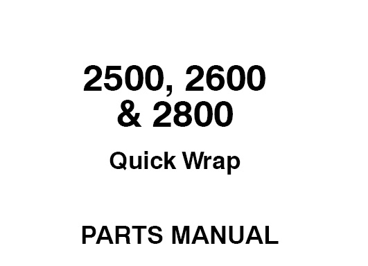 Gehl 2500, 2600 & 2800 Quick Wrap Parts Manual