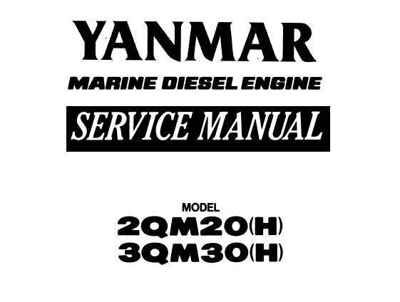 Yanmar 2QM20, 2QM20H,3QM30, 3QM30H Marine Diesel Engine