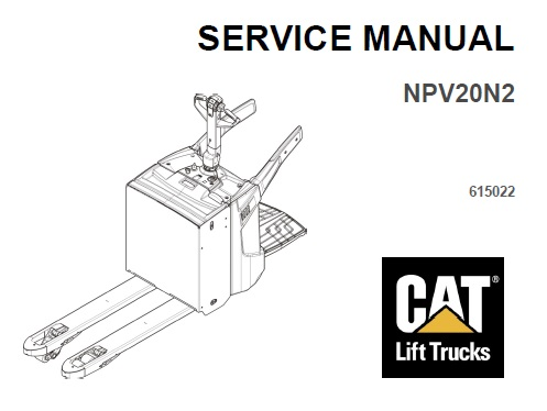 Caterpillar Cat NPV20N2 Forklift Service Repair Manual