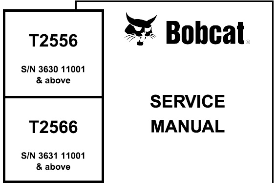 Bobcat T2556, T2566 Telescopic Handler Service Repair