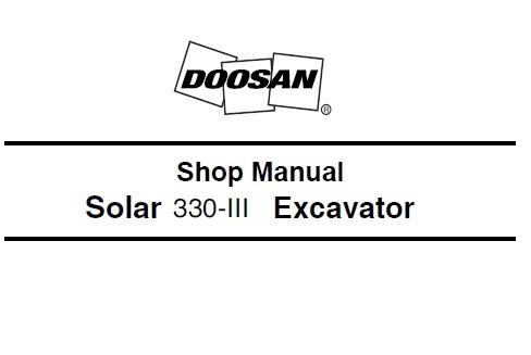 Daewoo Doosan Solar 300-3 Excavator Service Repair Shop