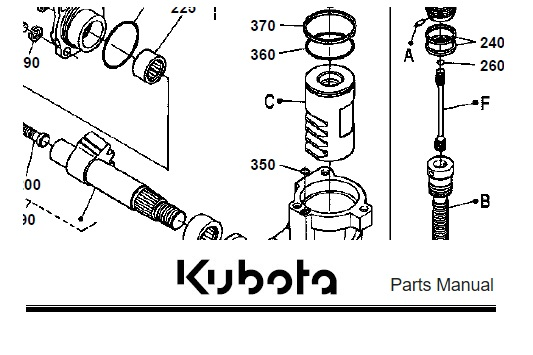 Kubota B2400HSE Tractor Illustrated Master Parts Manual
