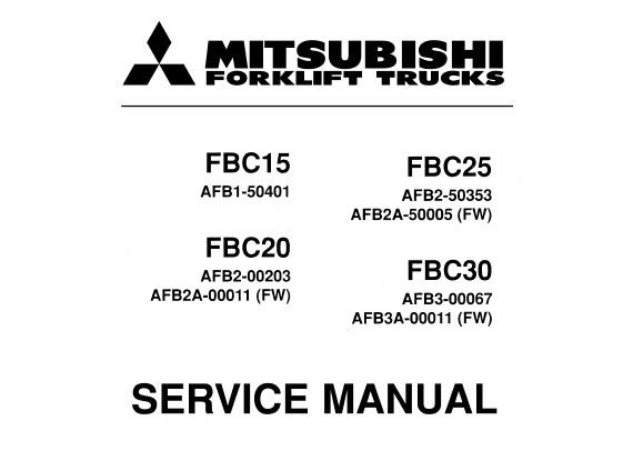 Mitsubishi FBC15, FBC20, FBC25, FBC30 Forklift Service
