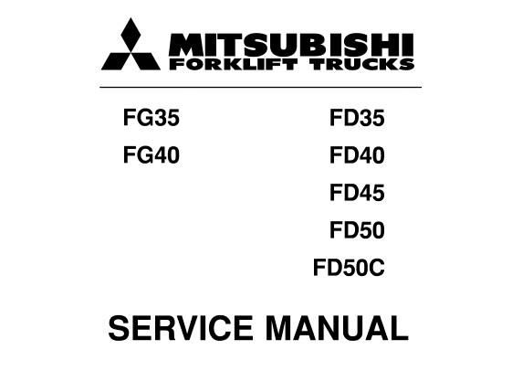Mitsubishi FG35, FG40, FD35, FD40, FD45, FD50, FD50C