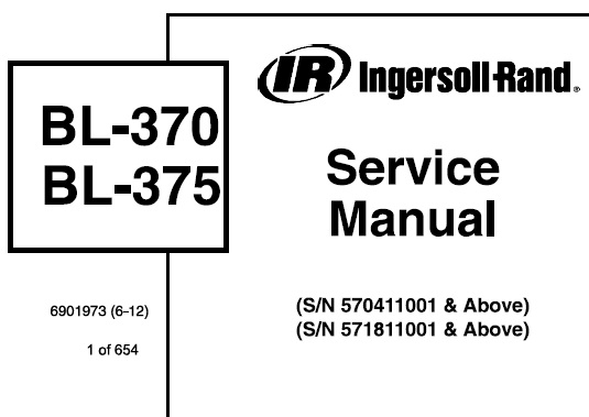 Bobcat BL-370 BL-375 Backhoe Loader Service Repair Manual
