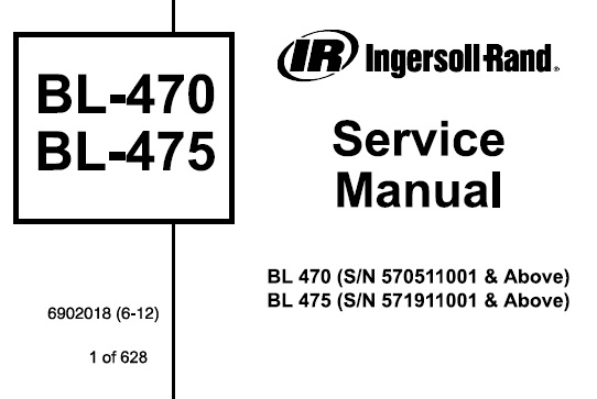 Bobcat BL-470 BL-475 Backhoe Loader Service Repair Manual