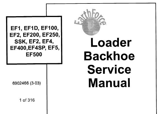 Bobcat EF1, EF1D, EF100, EF2, EF200, EF250, SSK, EF3, EF4