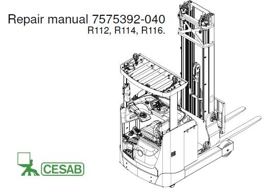Cesab R112, R114, R116 Forklift Truck Service Repair