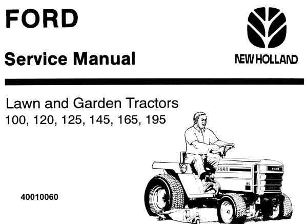 Ford New Holland 100, 120, 125, 145, 165, 195 Lawn and