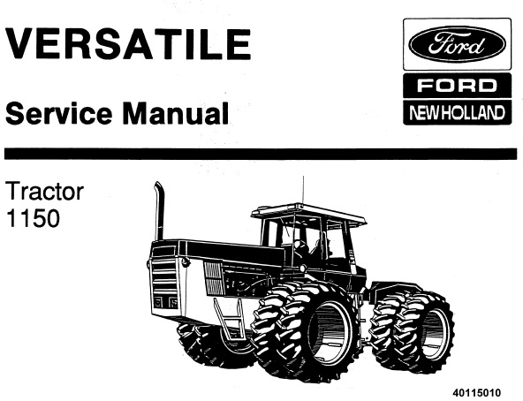 Ford New Holland 1150 Tractor (Versatile) Service Repair