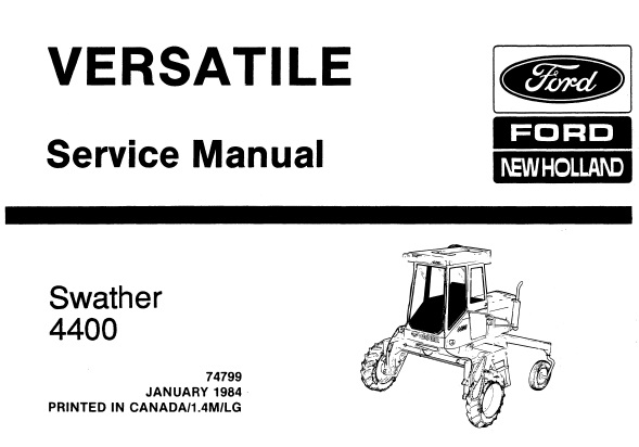 Ford New Holland 4400 (Versatile) Swather Service Repair