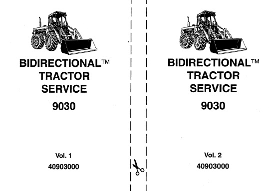Ford New Holland 9030 Bidirectional Tractor Service Repair