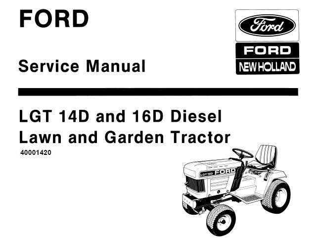 Ford New Holland LGT 14D , 16D Diesel Lawn & Garden