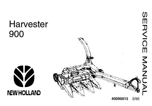 New Holland 900 Harvester Service Repair Manual