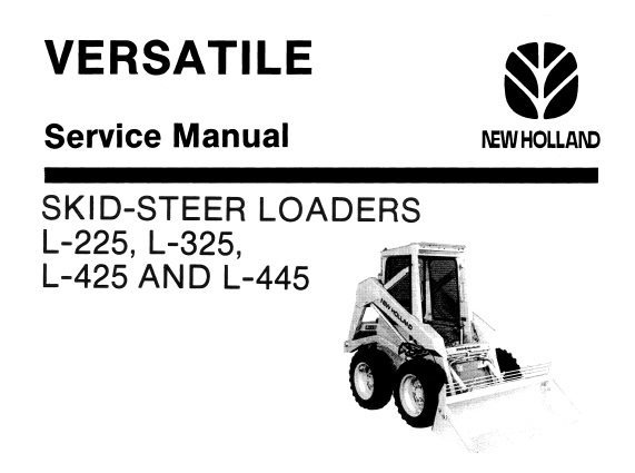 New Holland L-225, L-325, L-425 & L-445 Skid-Steer Loaders