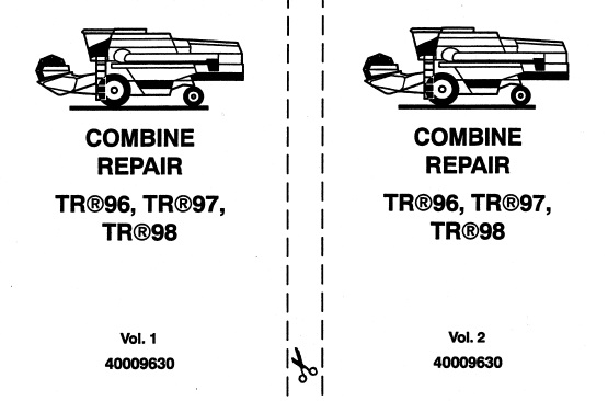 New Holland TR96, TR97, TR98 Combine Service Repair Manual