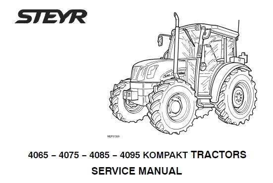 Steyr 4065, 4075, 4085, 4095 KOMPAKT Tractors Service