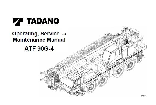 Tadano FAUN ATF 90G-4 All Terrain Crane Service Repair