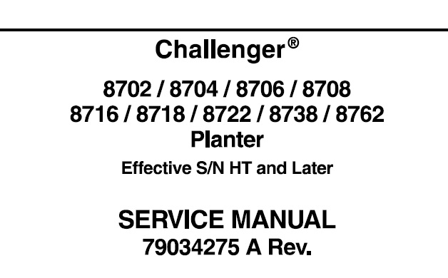 Challenger 8702, 8704, 8706, 8708, 8716, 8718, 8722, 8738