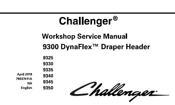 Challenger 9300 DynaFlex Draper Header (9325, 9330, 9335