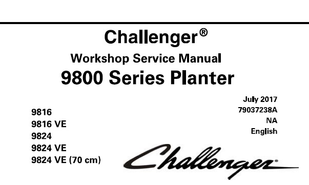 Challenger 9816 , 9816 VE , 9824 , 9824 VE , 9824 VE (70
