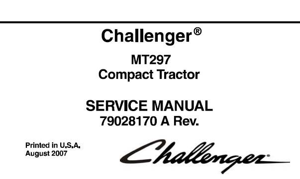Challenger MT297 Compact Tractor