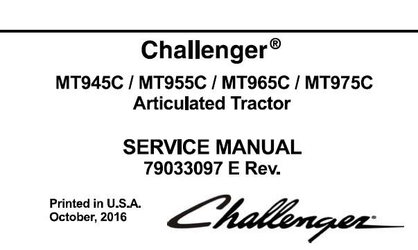 Challenger MT945C, MT955C, MT965C, MT975C Articulated