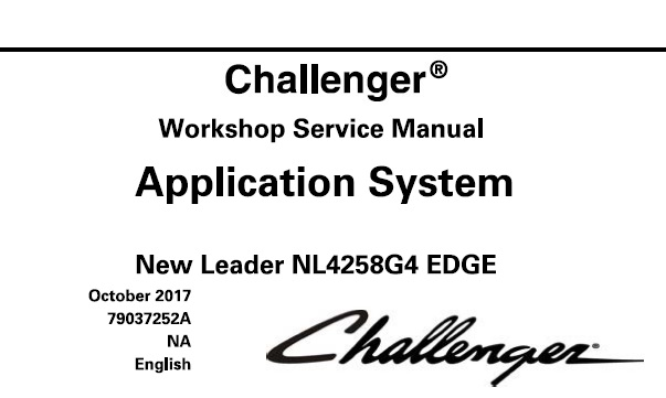 Challenger New Leader NL4258G4 EDGE Row Crop Application