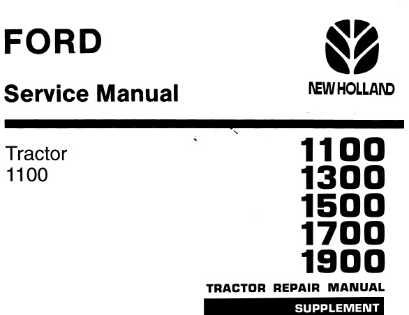 Ford New Holland 1100, 1300, 1500, 1700, 1900 Tractors