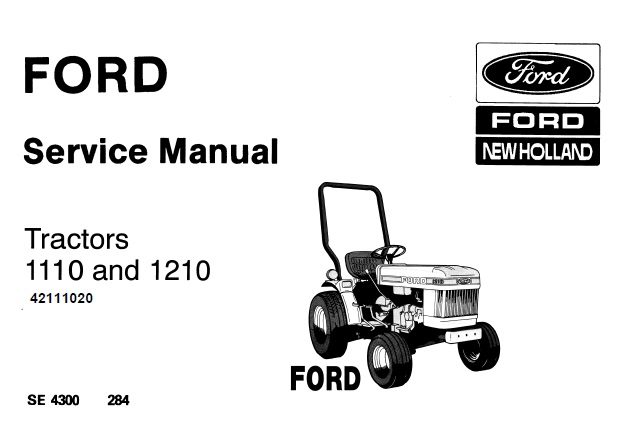 Ford New Holland 1110, 1210 Tractors Service Repair Manual