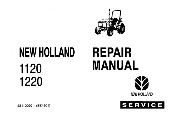 Ford New Holland 1120, 1220 Tractors Service Repair Manual