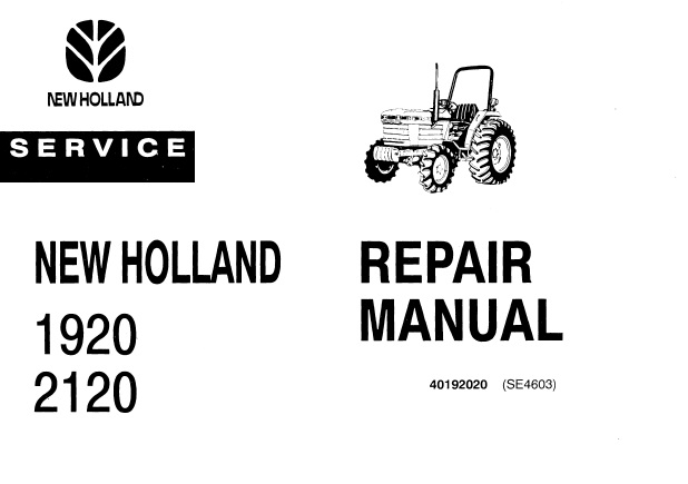 Ford New Holland 1920, 2120 Tractor Service Repair Manual